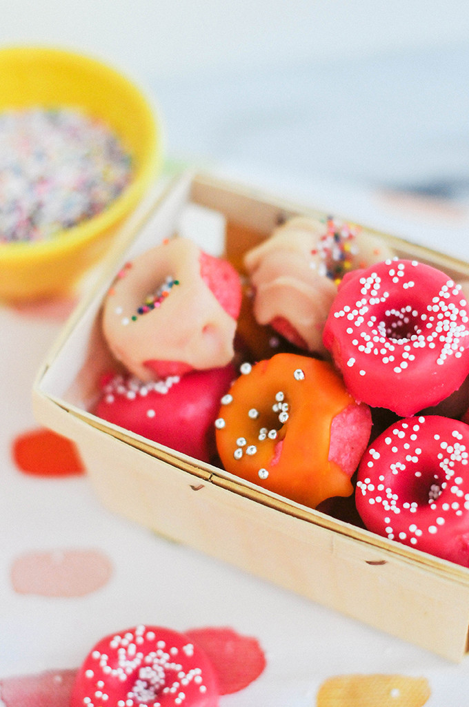 Taste It \\ Pink Strawberry Mini Donuts