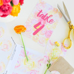 Printed \\ DIY Floral Wedding Stationery + Free Printables