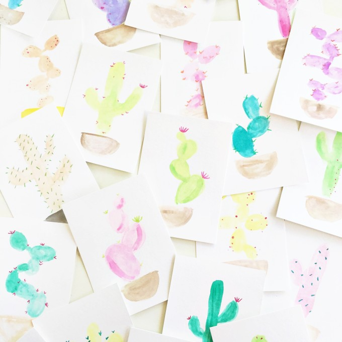 watercolor cactus by Lexy Ward \\ Proper
