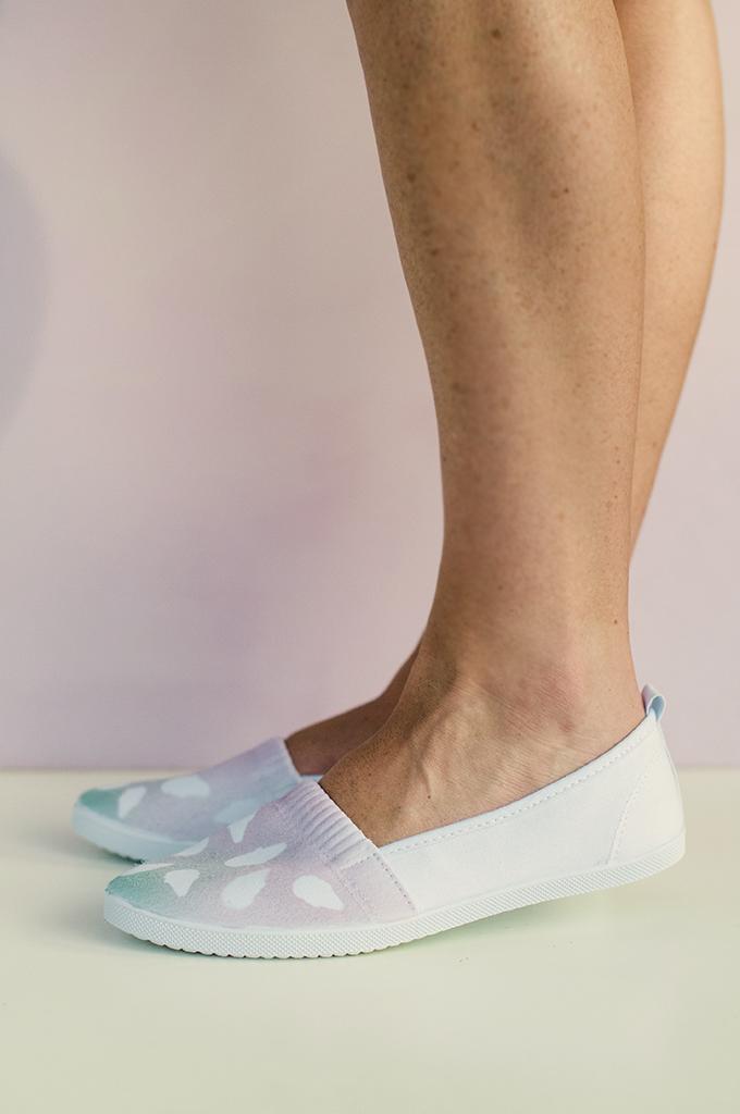 DIY Ombre Ice Cream Cone Shoes