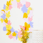 Autumn All Day \\ DIY Paper Leaf Wreath