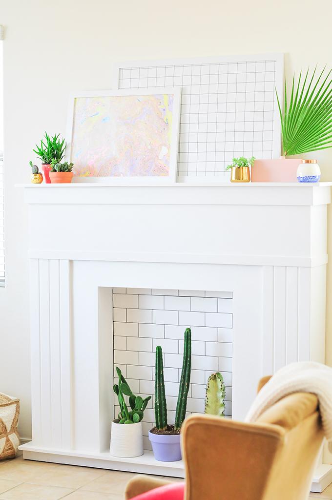 DIY Faux Fireplace
