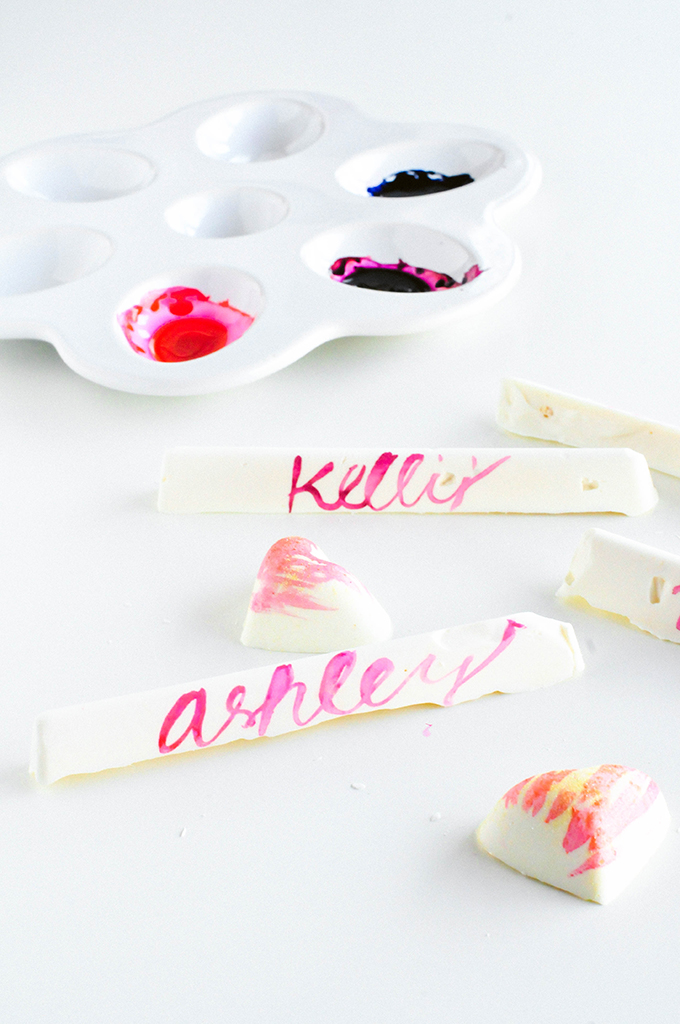 DIY Chocolate Place Cards