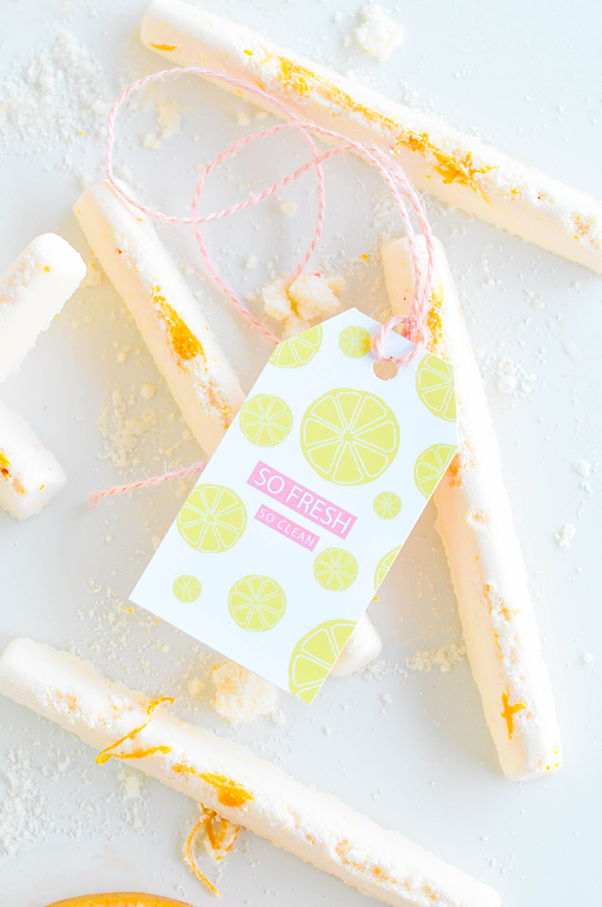 DIY Bath Bombs & Printable Citrus Label