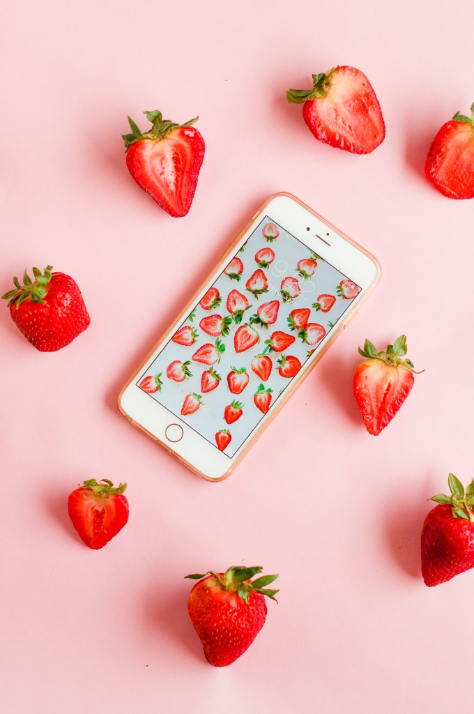 9 Free Wallpaper Downloads \\ Strawberry Wallpaper Download via @theproperblog