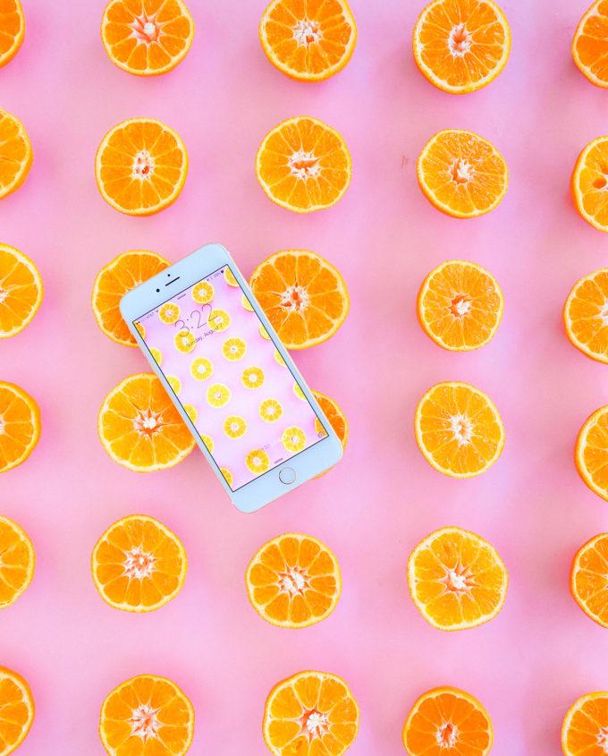 #ProperPrintables \\ Fruity Orange Wallpaper Download