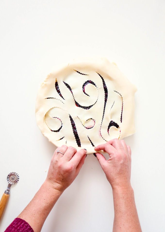 Whimsical Pie Crust Design