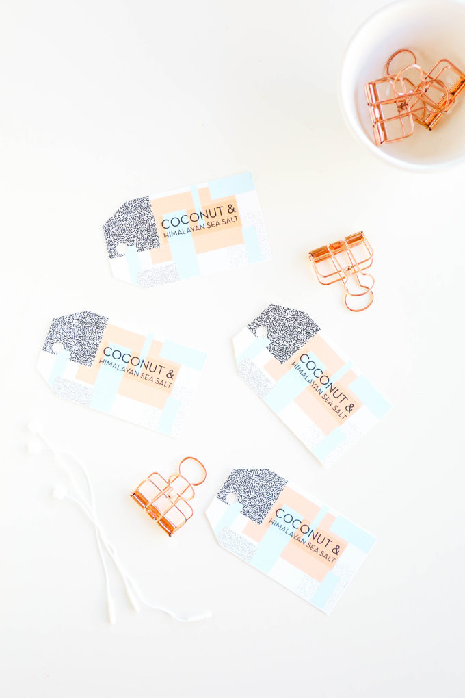 DIY Soap Recipe & Geometric Labels