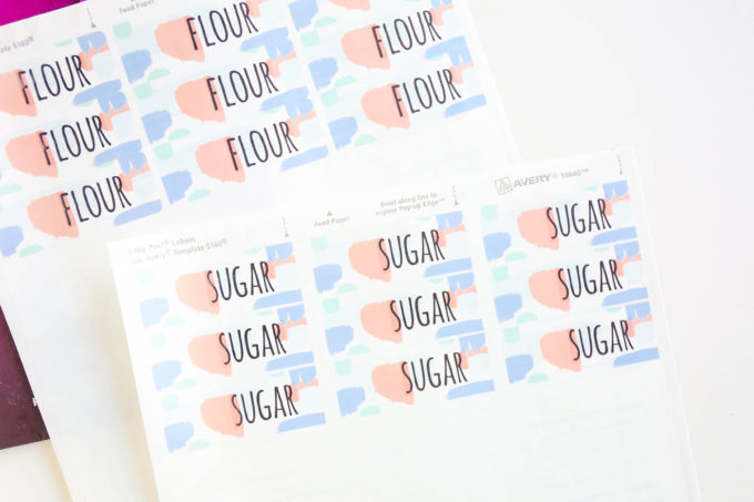Watercolor Pantry Labels