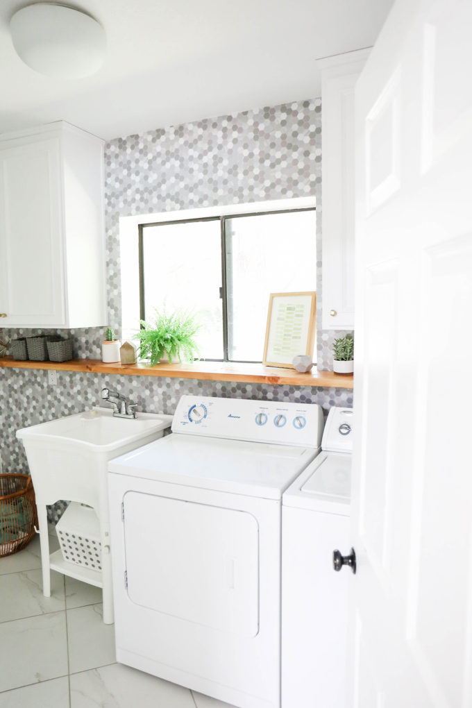 #ProperAtHome \\ A Simple Marble Makeover In Our Laundry Room