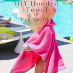 DIY Hooded Towel with Pom Pom Trim