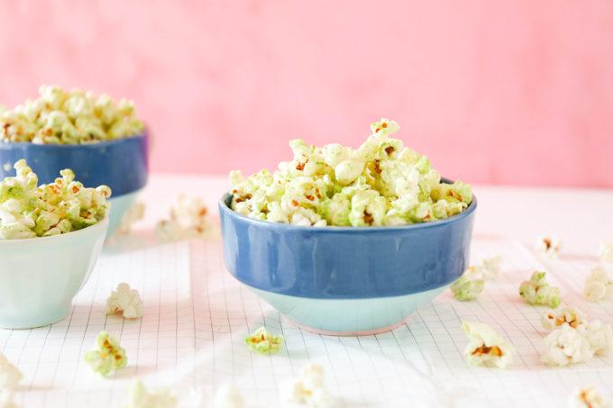Coconut Matcha Popcorn recipe