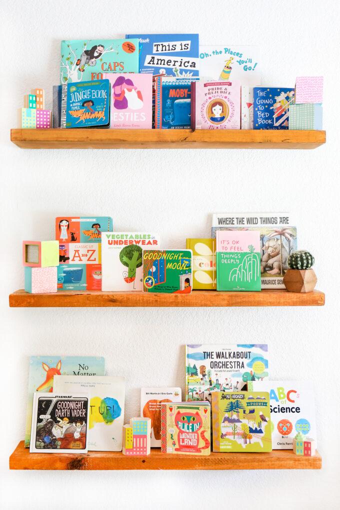 shelves with children's books