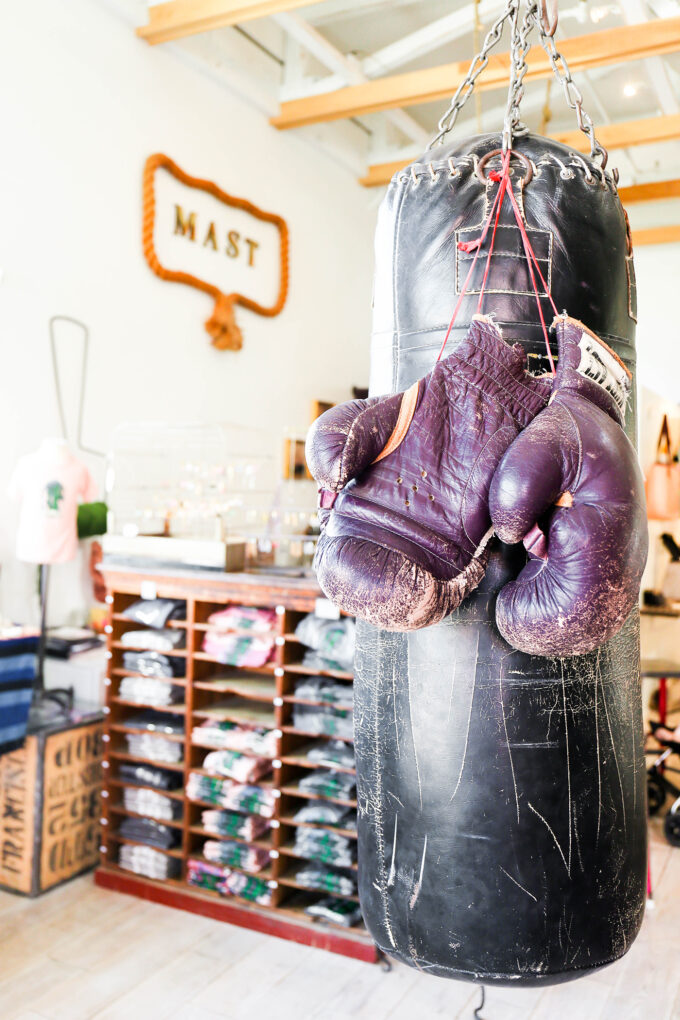 Mast Shop in Tucson - with hanging punching bag
