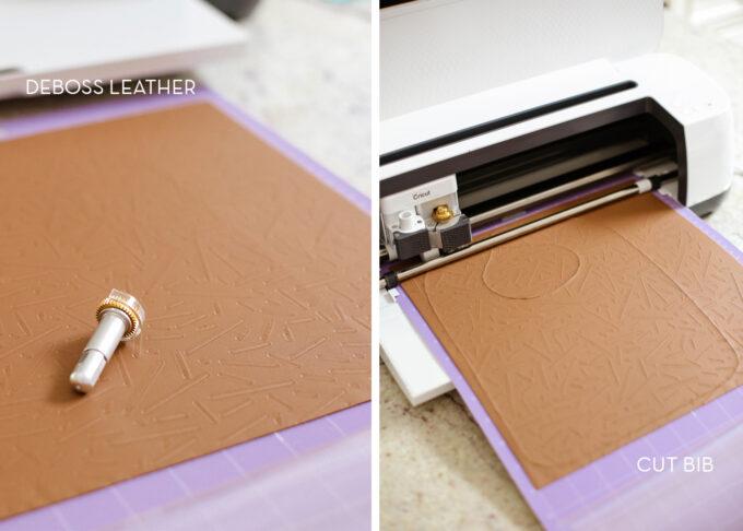 cricut maker debased leather bib