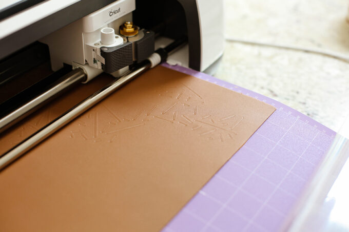 cricut maker debasing leather