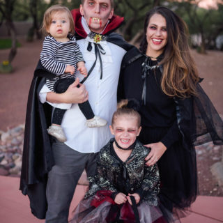 DIY Vampire Family Costume