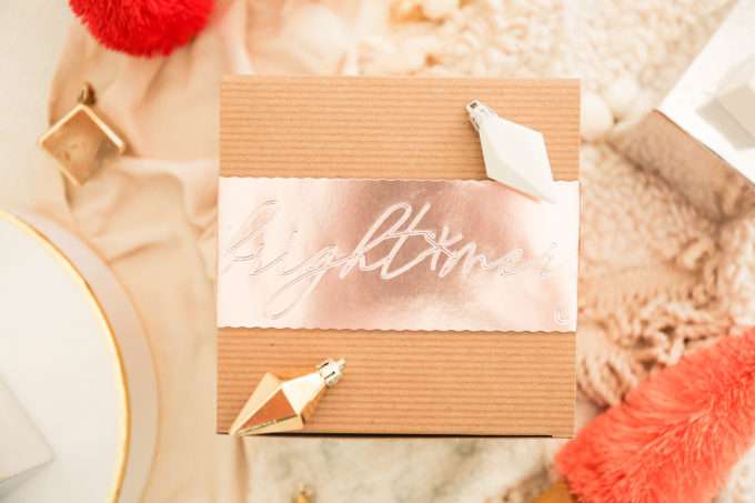 styled gift box
