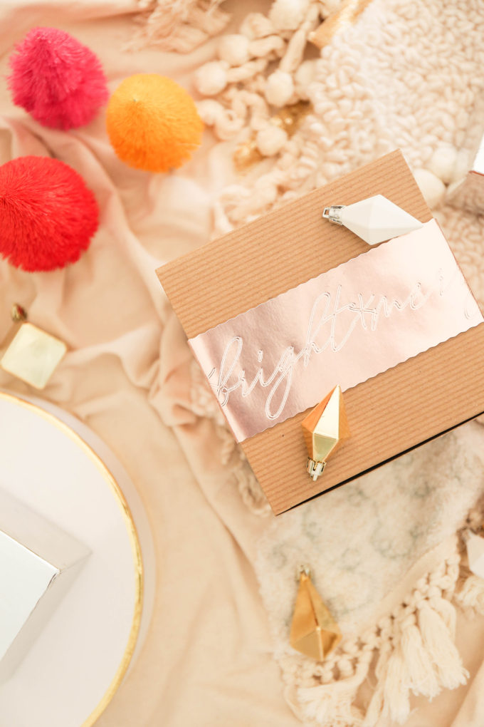 DIY Gift Wrap with Debossed Foil Sleeve