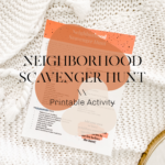 Neighborhood Scavenger Hunt Printable Activity \\ #ProperPrintables