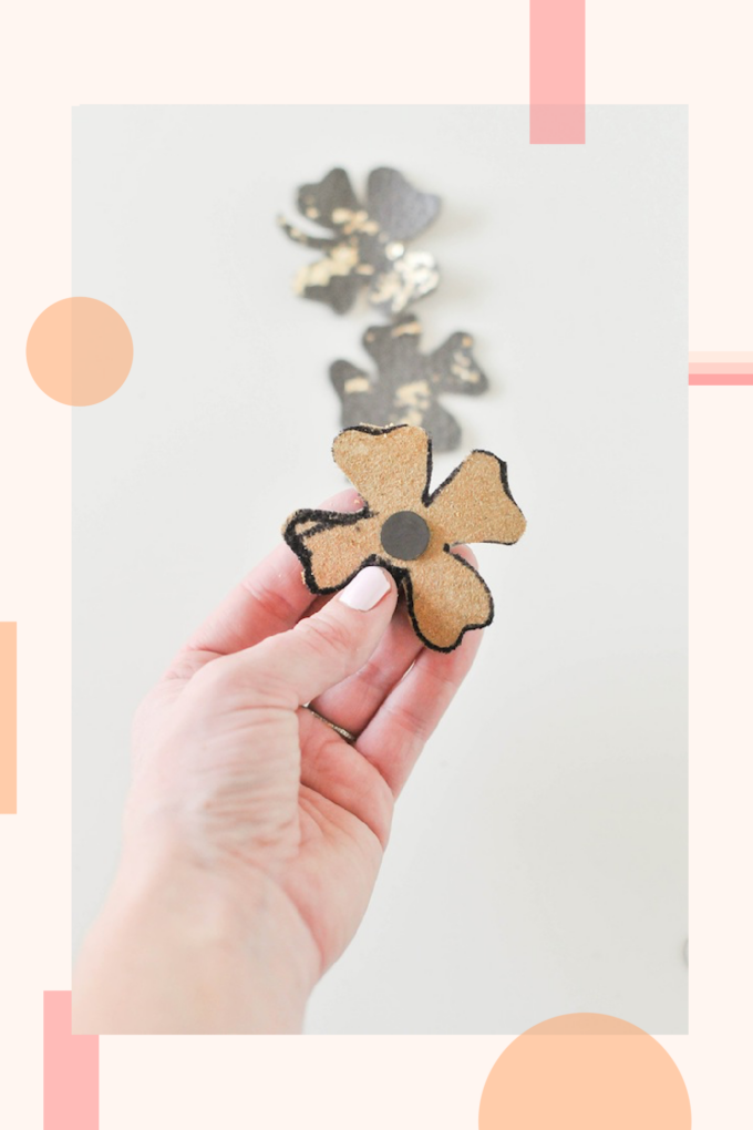 DIY lucky leather magnets