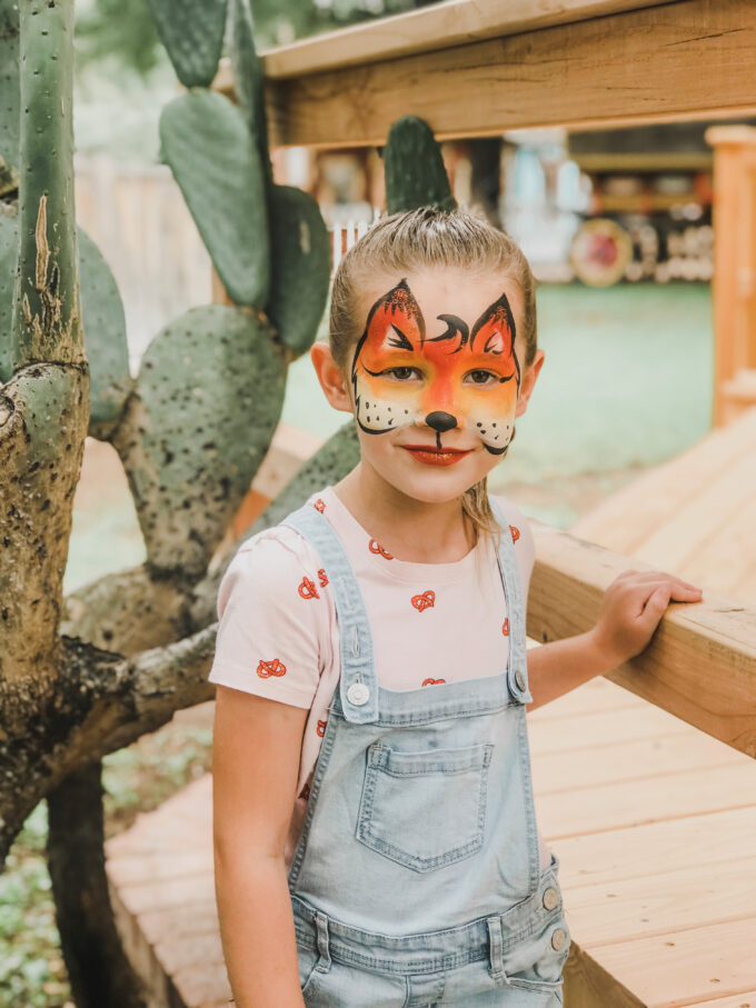 little girl with fox face paint things to do