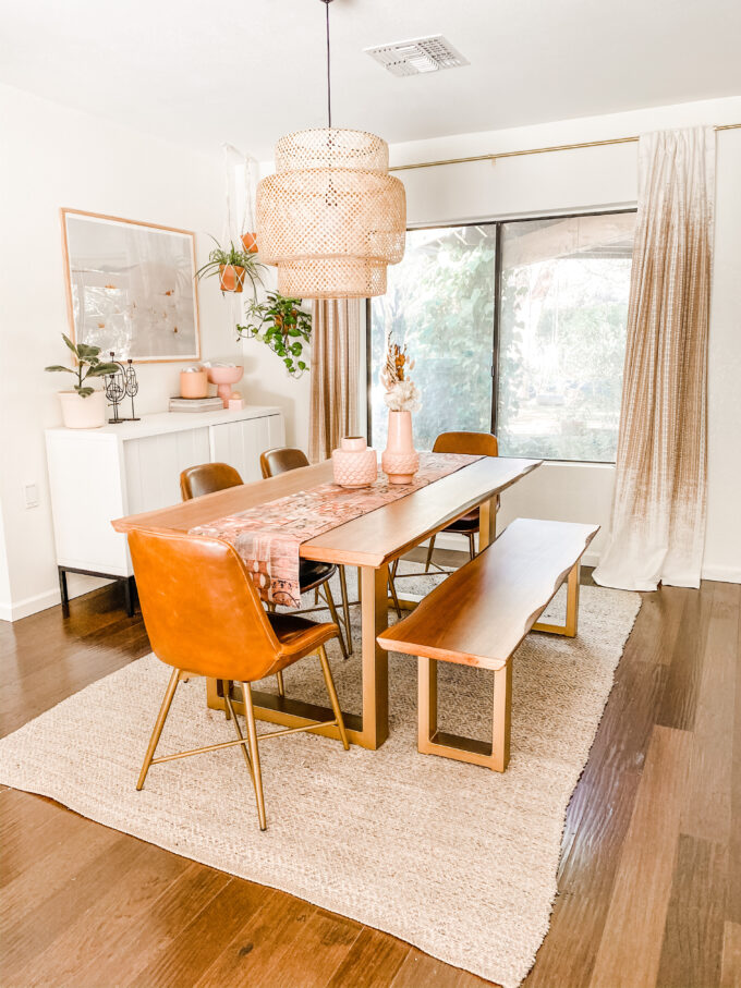 dining room bohemian modern