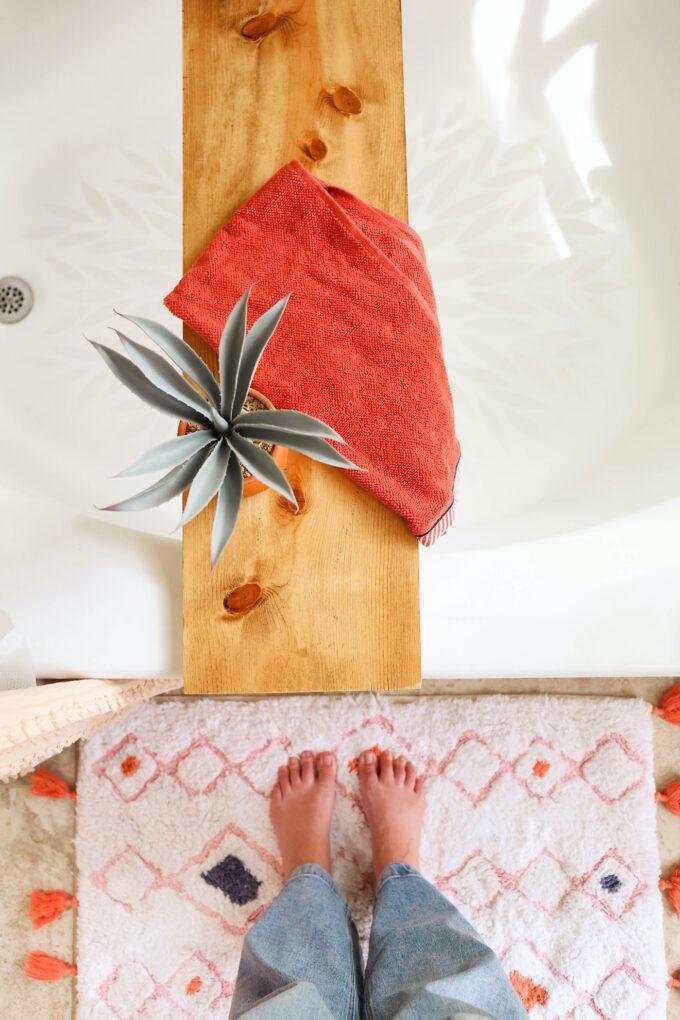 aerial view of bathtub
