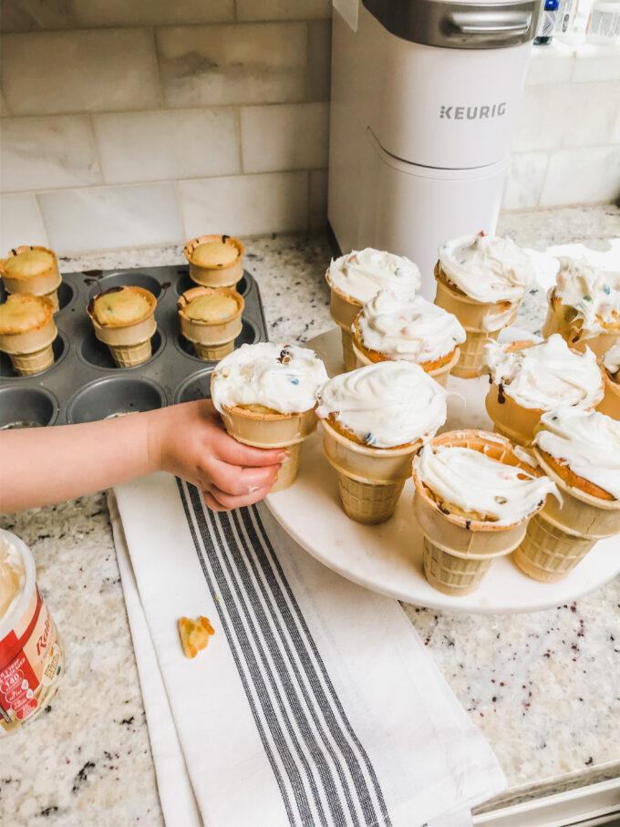 Funfetti Cupcake Cones