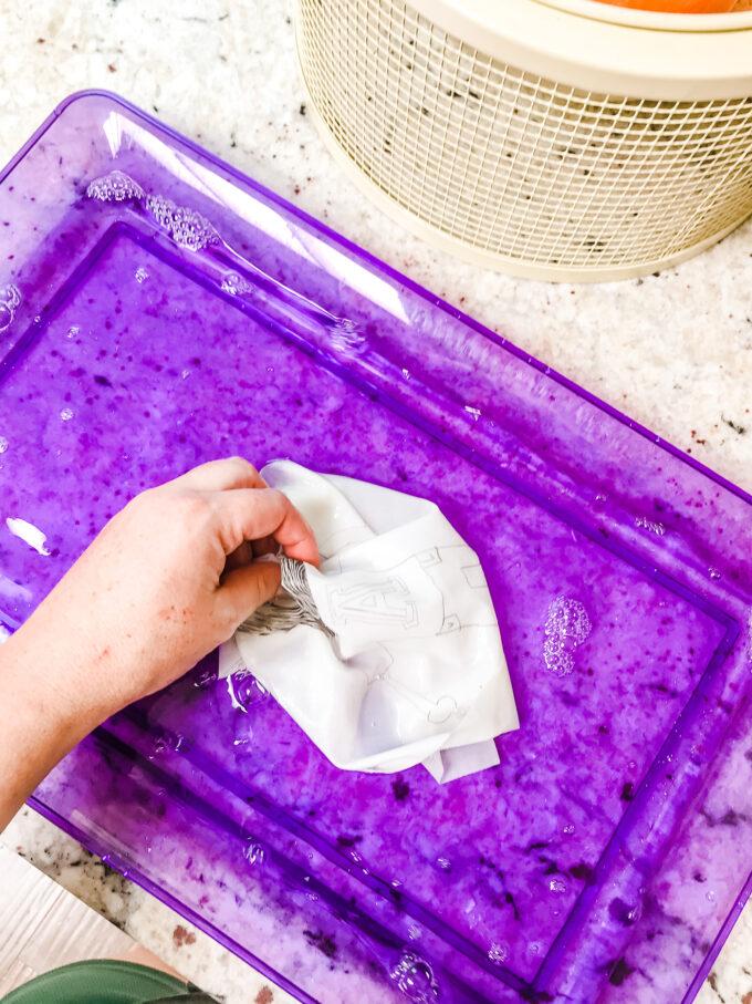 handwashing printed fabric