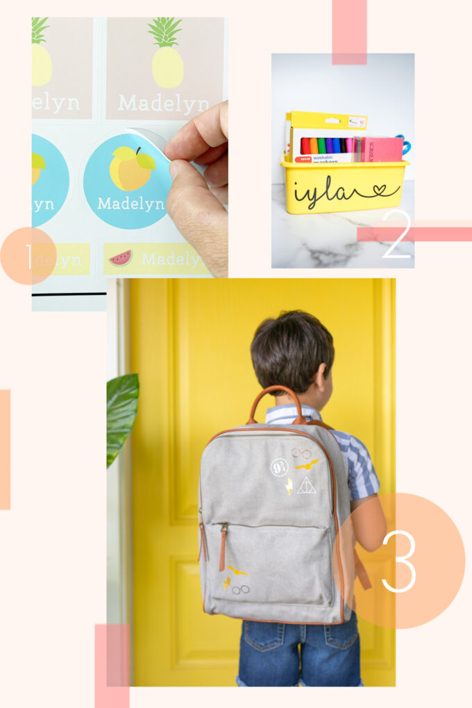 round up of 10 Ways To Personalize Back To School with Cricut