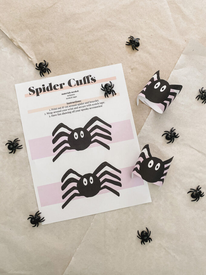 printable spider cuffs for halloween