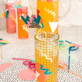 DIY 80's Drink Decor