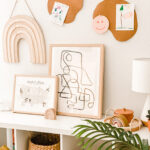Put A Cork In It \\ DIY Cork Board Wall Decor For Modern Kids Playroom