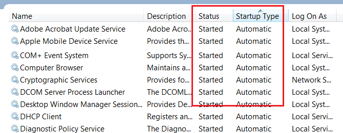 restart CRM and NAV services - start the services