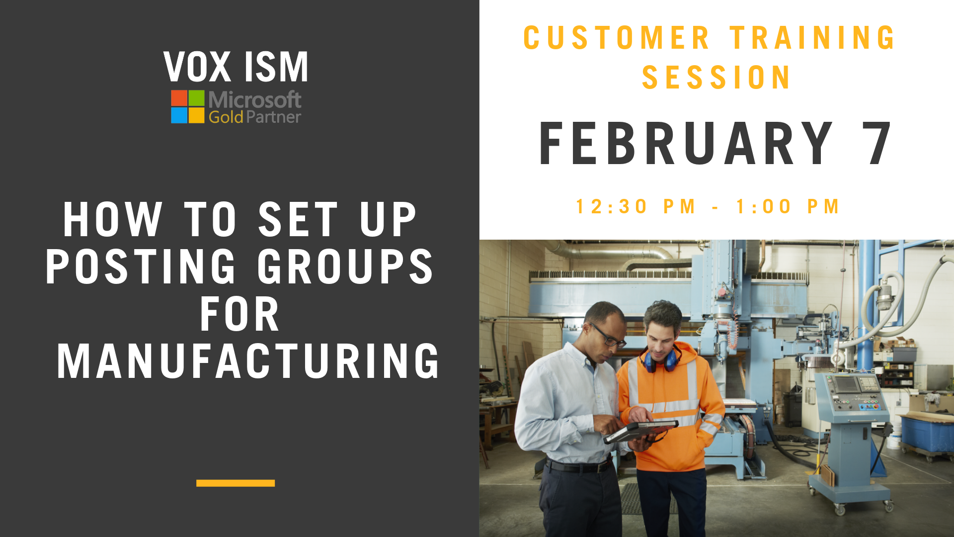 How To Set up Posting Groups for Manufacturing