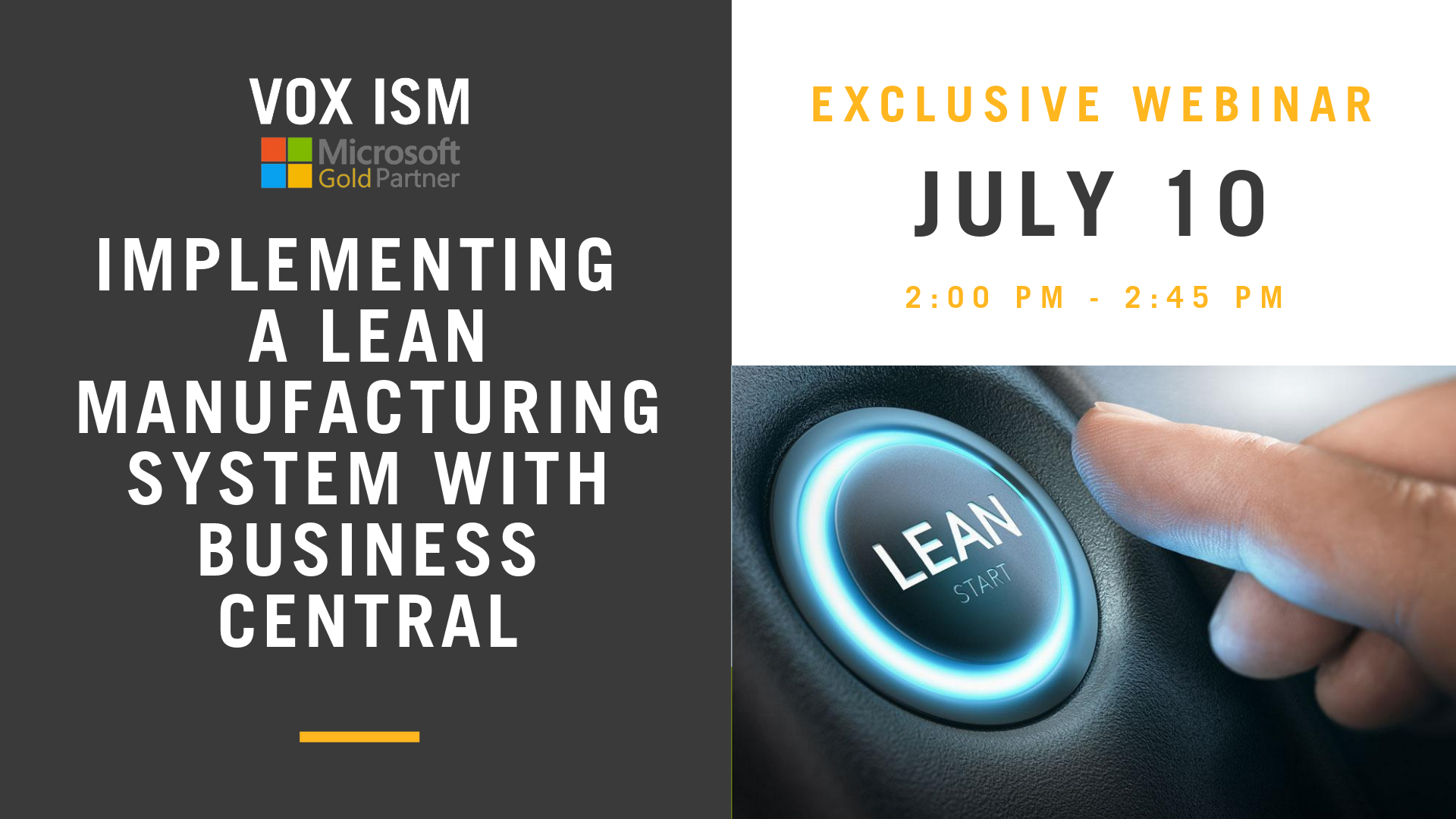 Implementing a Lean Manufacturing System with Business Central