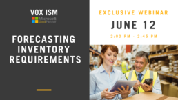 Forecasting Inventory Requirements – June 12 – Webinar
