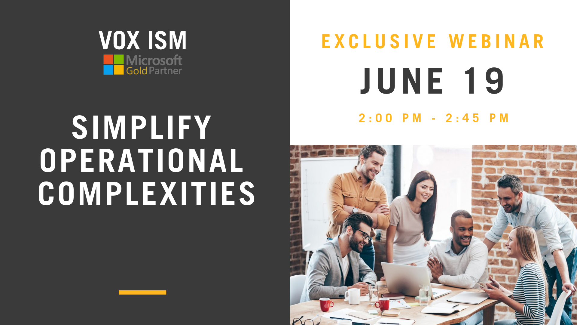 Simplify Operational Complexities – June 19 – Webinar