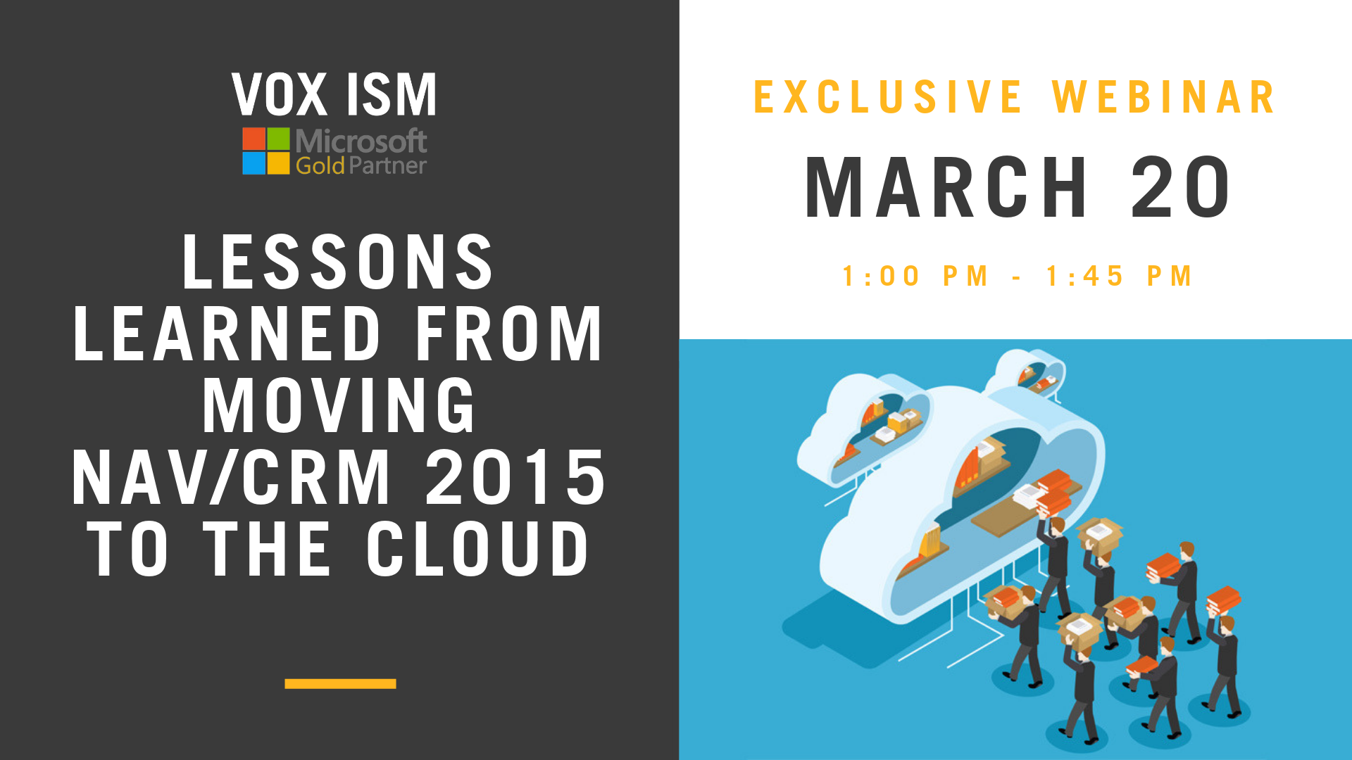 Lessons learned from moving NAV/CRM 2015 to the cloud – March 20 – Webinar