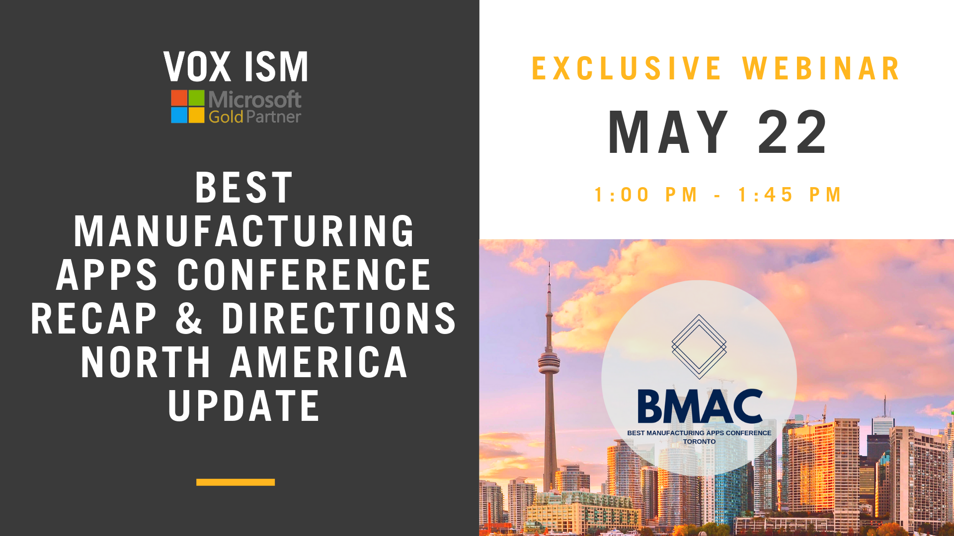 May 22 - Best Manufacturing Apps Conference Recap & Directions North America Update