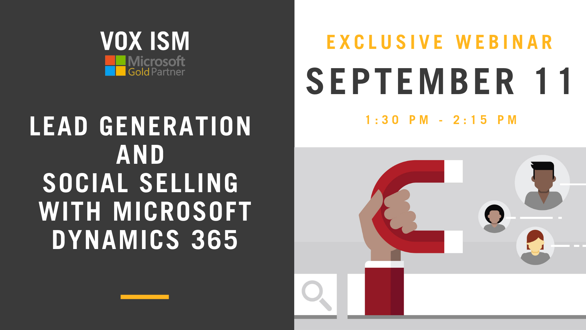 Lead Generation and Social Selling With Microsoft Dynamics 365 - September 11 - Webinar - VOX ISM