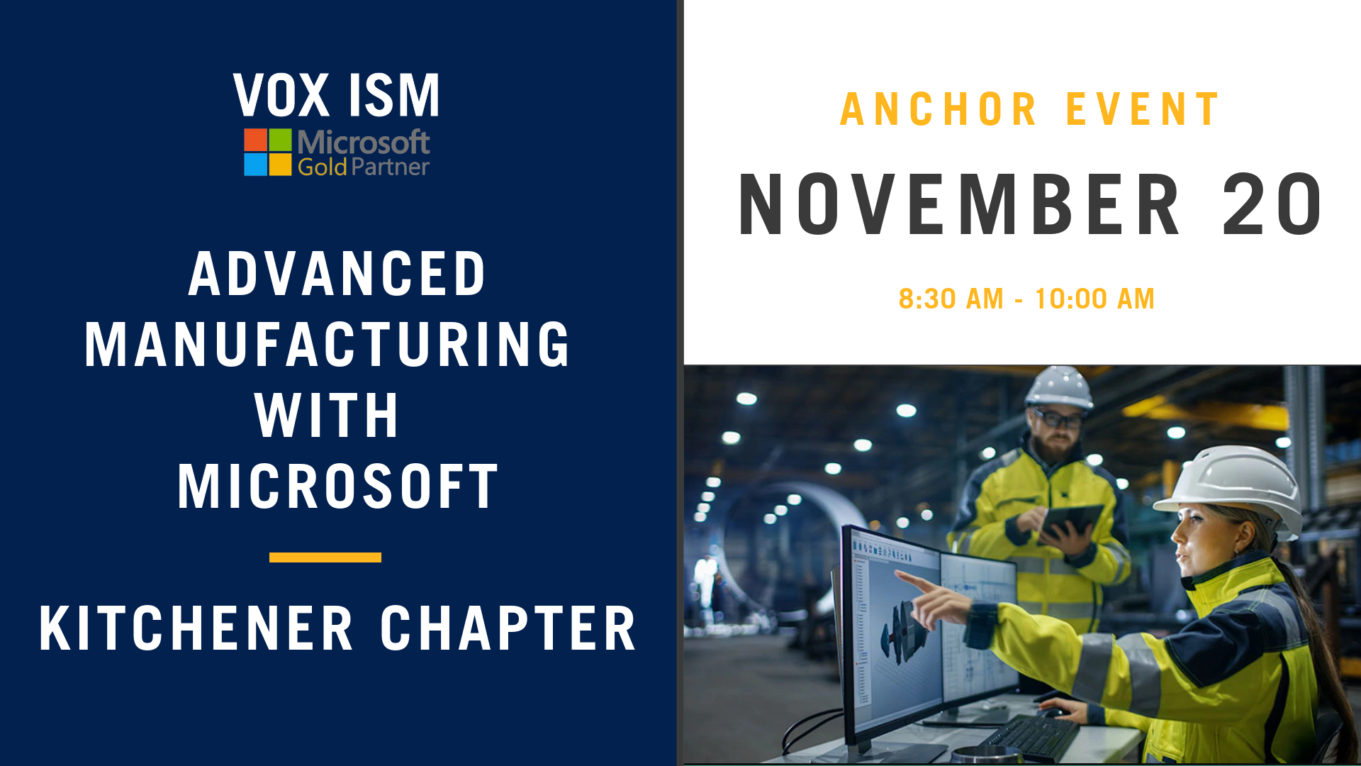Advanced Manufacturing with Microsoft - Kitchener Chapter - November 20