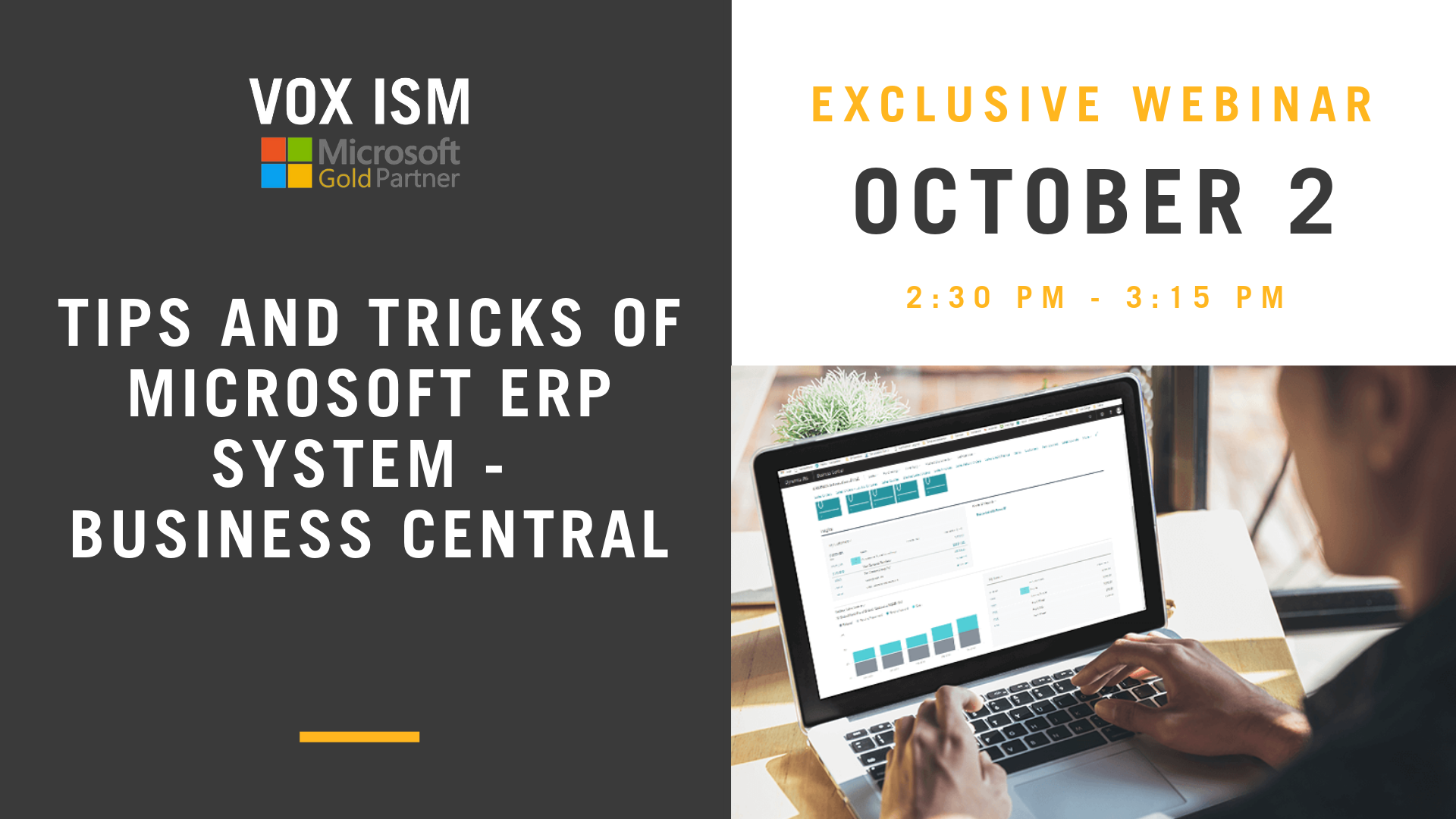 Tips and tricks of Microsoft ERP System - Business Central - VOX ISM
