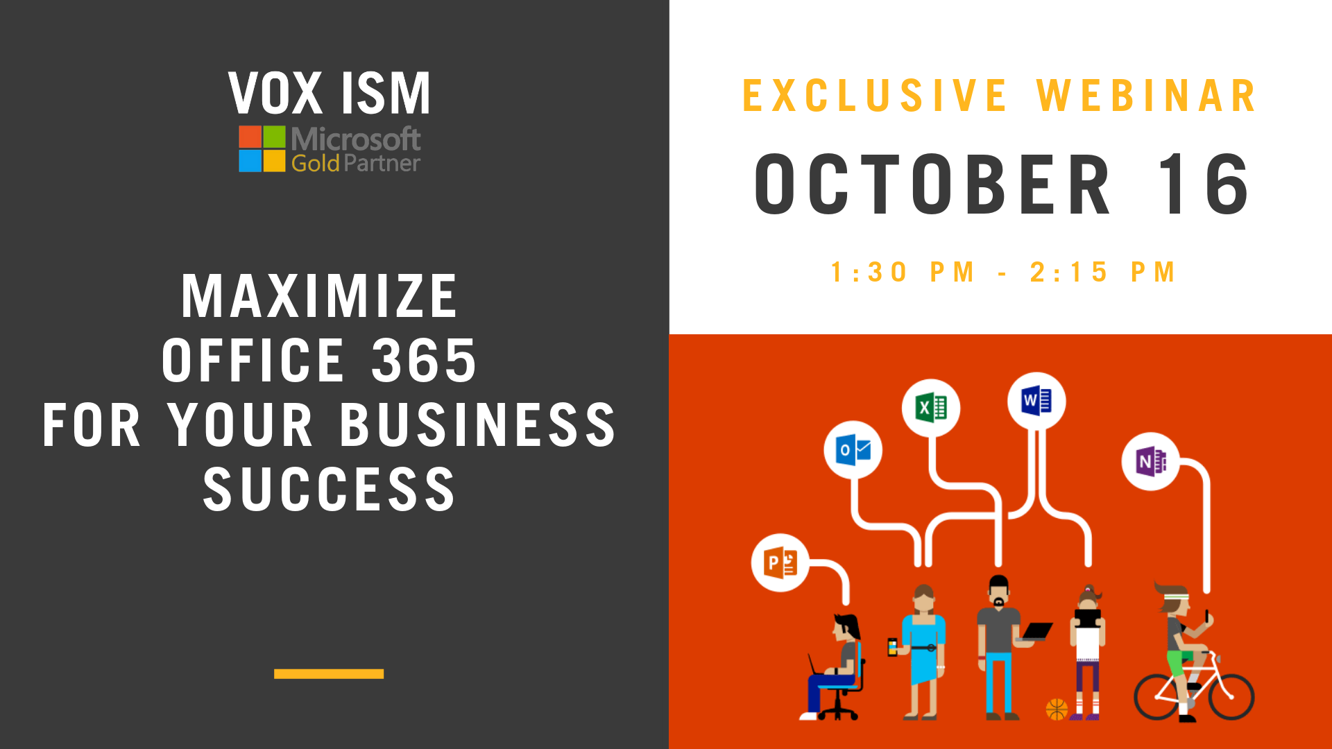 Maximize Office 365 for Your Business Success - October 16 - Webinar - VOX ISM