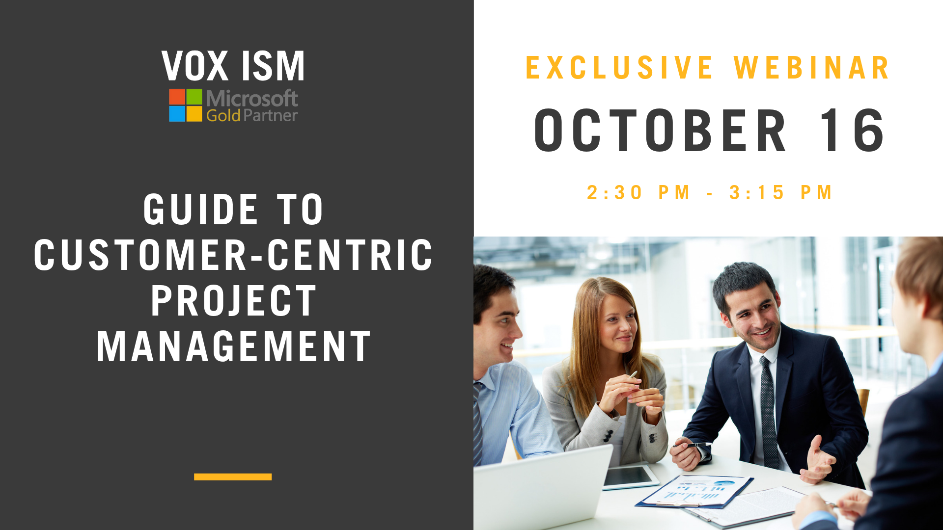 Guide to Customer-Centric Project Management - October 16 - Webinar - VOX ISM