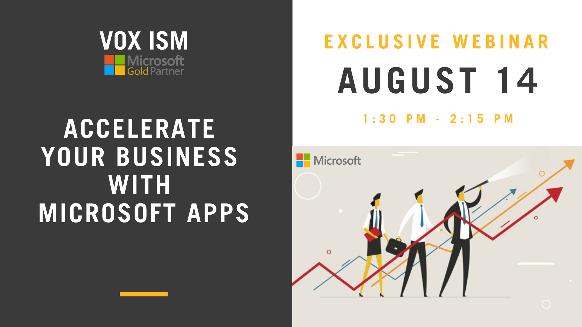 Accelerate Your Business with Microsoft Apps - August 14 - Webinar - VOX ISM
