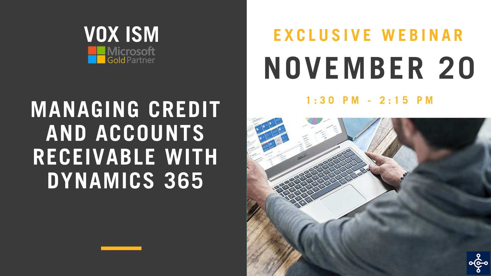 Managing Credit and Accounts Receivable with Dynamics 365 - November 20 - Webinar - VOX ISM