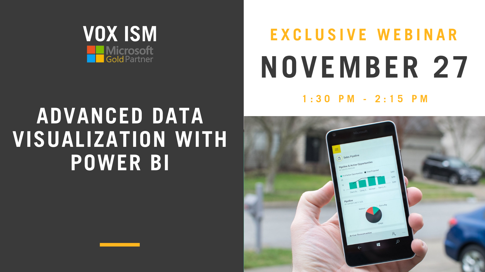 Advanced Data Visualization with Power BI - November 27 - Webinar - VOX ISM