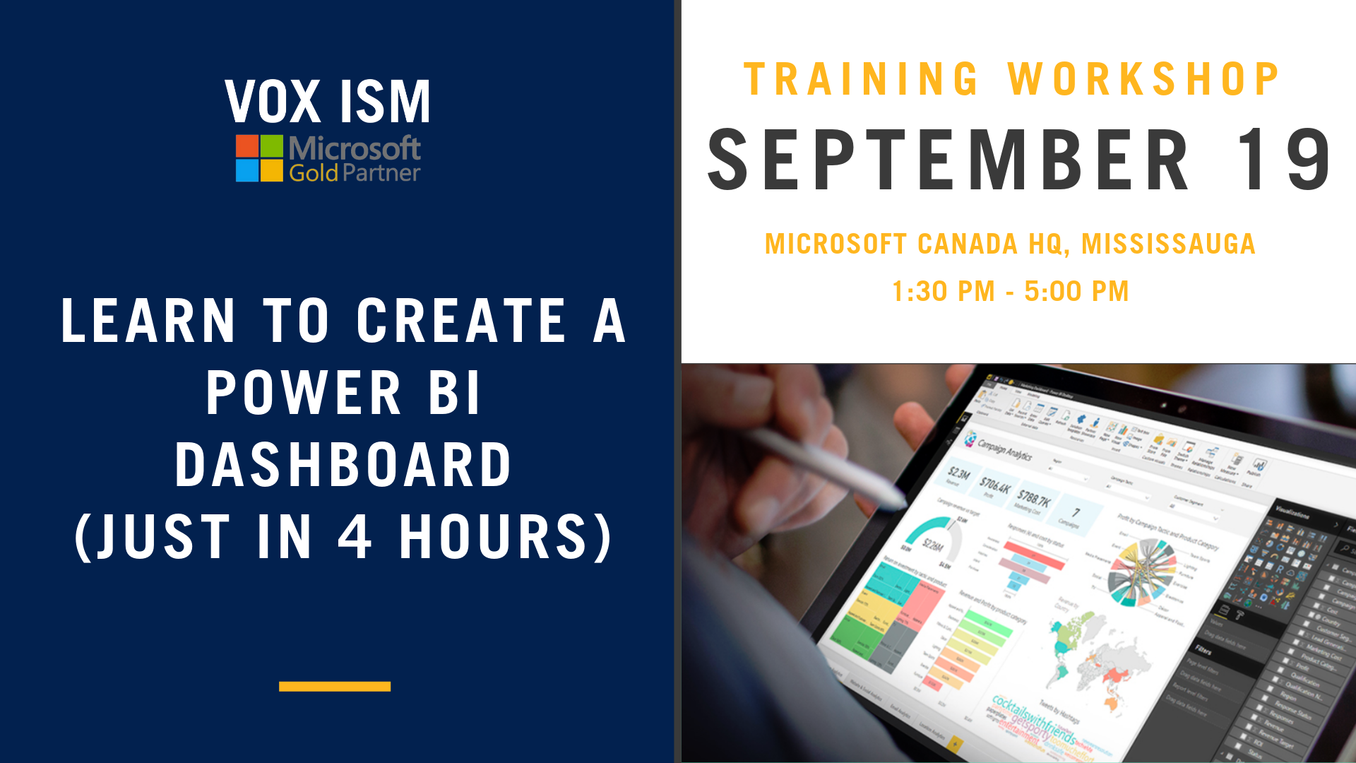 Learn to create Power BI Dashboards (just in 4 hours)- September 19 - Super Event - VOX ISM